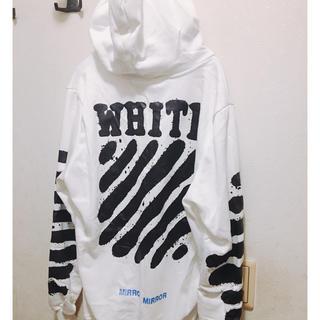 オフホワイト(OFF-WHITE)の正規品OFF WHITE パーカー(パーカー)