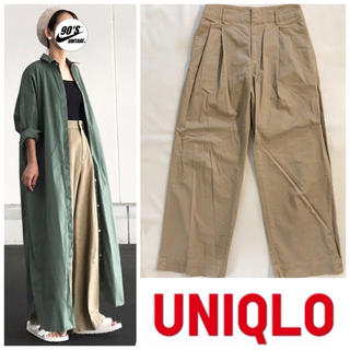 ユニクロ(UNIQLO)のUNIQLO wide chino pants(チノパン)