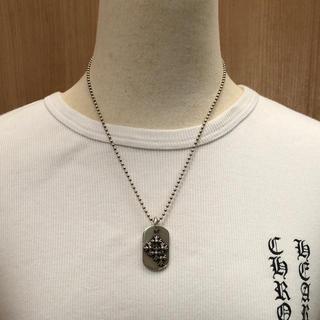 クロムハーツ(Chrome Hearts)のクロムハーツ レイズドセメタリークロスドッグタグ&ボールチェーン20インチ(ネックレス)