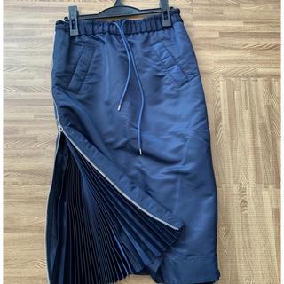 sacai - sacai ジップスカート