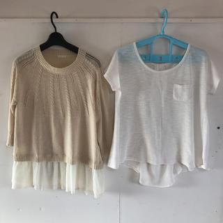 ジーユー(GU)のGUトップスセットL(カットソー(半袖/袖なし))