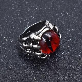 新品◆ドラゴンの目玉リング④ レッド(リング(指輪))