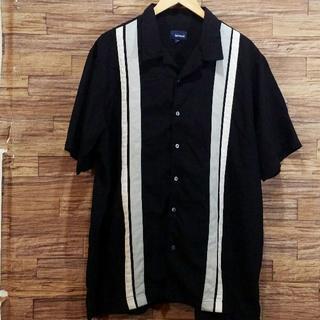 BASIC EDITION 半袖 切り替えシャツ 開襟