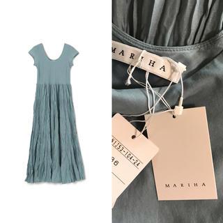 IENA -  MARIHA 2019ss 草原の虹のドレス 36 スモーキーブルー