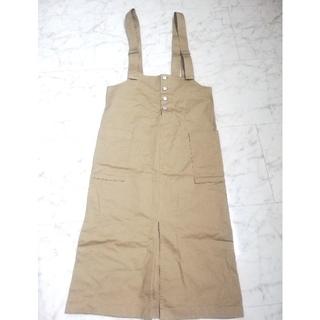 GU - 完売商品 ジーユー チノフロントボタンサロペットスカート