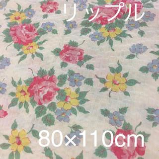 生地 布 🌷リップル生地 バラ柄 80×110cm