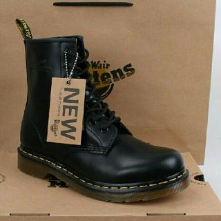 ドクターマーチン(Dr.Martens)のUK8 ドクターマーチン Dr.Martens 8ホール ブーツ ブラック(ブーツ)