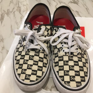 Supreme - supreme×VANS Checkers(Black) 26cm