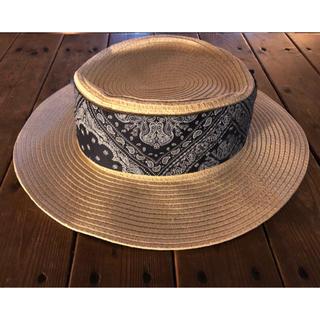 パサージュミニョン(passage mignon)のカンカン帽(麦わら帽子)(麦わら帽子/ストローハット)