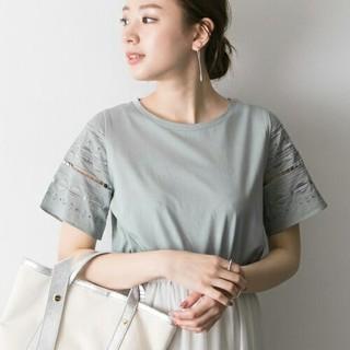 URBAN RESEARCH - 幾何刺繍Tシャツ ミントグレー*アーバンリサーチ