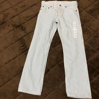ジーユー(GU)のパンツ 長ズボン 新品 120cm GU ストライプデニム デニム(パンツ/スパッツ)
