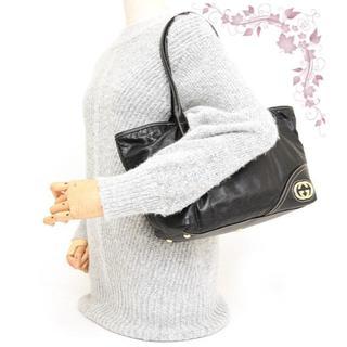 グッチ(Gucci)のグッチ♡ニューブリット オールレザー トートバッグ♡ブラック黒×ゴールド(トートバッグ)