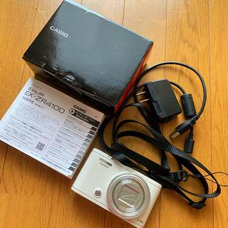 カシオ(CASIO)のCASIO EXILIM EX-ZR4100  カシオ ホワイト デジタルカメラ(コンパクトデジタルカメラ)