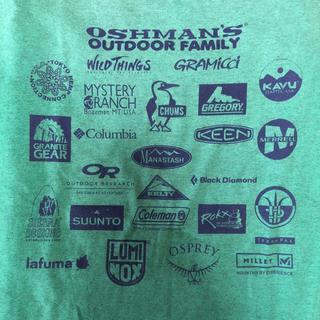 チャムス(CHUMS)のOSHMAN'S OUTDOOR FAMILY Tシャツ L オッシュマンズ(Tシャツ/カットソー(半袖/袖なし))