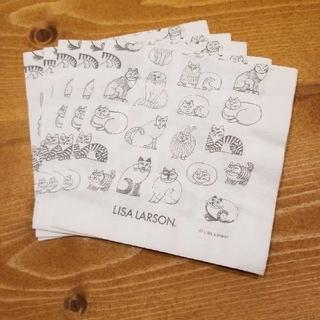リサラーソン(Lisa Larson)のリサラーソン    スケッチ猫のペーパーナプキン5枚 デコパージュ(各種パーツ)