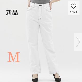 ジーユー(GU)の値下げ☆新品未使用 GU ハイウエストストレートジーンズ Mサイズ(デニム/ジーンズ)
