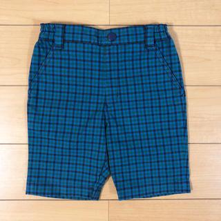 ファミリア(familiar)の【美品】familiar 90cm 緑チェックショートパンツ(パンツ/スパッツ)