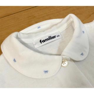 familiar - familiar 100cm リボン刺繍ブラウス