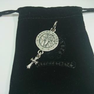クロムハーツ(Chrome Hearts)のエンジェルメダル withベビーファットクロスチャーム(ネックレス)