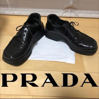 PRADA - PRADA スクエアトゥ シューズ 革靴
