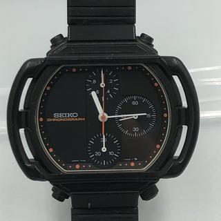セイコー(SEIKO)のSEIKO ジウジアーロ 7A28-5000 モトクロス 黒 純正ベルト 稼働品(腕時計(アナログ))