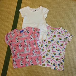 ミニオン(ミニオン)の女の子 Tシャツ3枚セット ディズニー ミニオン ファミリア ユニクロ GU(Tシャツ/カットソー)