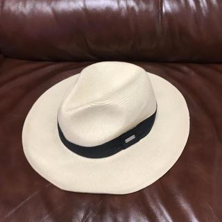 コーチ(COACH)の💕極美品💕コーチ💕レディース💕麦わら帽子/ストローハット(麦わら帽子/ストローハット)