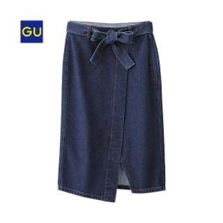 GU - gu デニムラップスカート