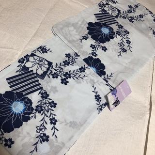 【先取りセール】新品 浴衣 淡い水色にお花 ¥6980→¥4980