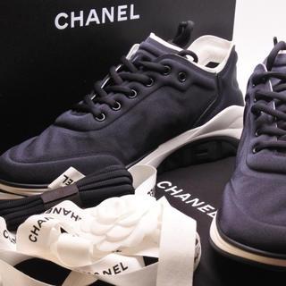 シャネル(CHANEL)のシャネル メンズ スニーカー 44 19P シャネルオム ブラック シューズ(スニーカー)