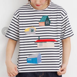 l'atelier du savon - 激安美品 アトリエドゥサボン アップリケ 刺繍ハウス ボーダー tシャツ