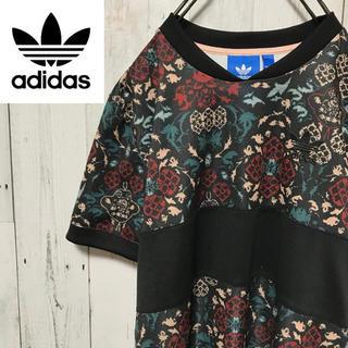 adidas - アディダスオリジナルス☆トレフォイルロゴ フラワーロゴ 花柄 総柄 Tシャツ