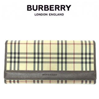 BURBERRY - 美品 BURBERRY 長財布 二つ折り ノバチェック ベージュ