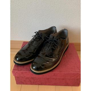 オリエンタルトラフィック(ORiental TRaffic)のLサイズ エナメル レースアップシューズ(ローファー/革靴)