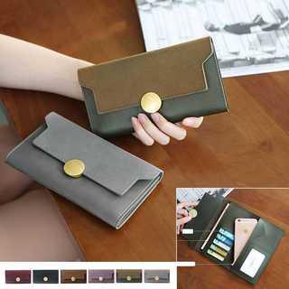 三つ折り長財布 レディース かぶせ カード入れ 薄型長財布 ロングウォレット(財布)