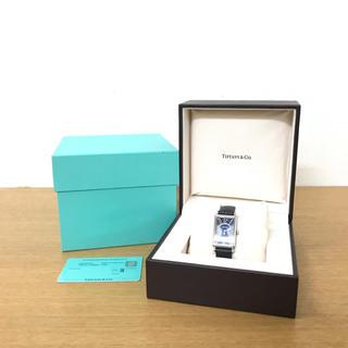 Tiffany & Co. - 美品 ティファニー ギャラリー 腕時計 ネイビー ☆カルティエ オメガ