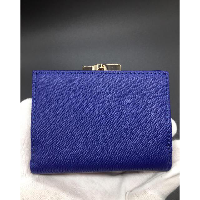 Vivienne Westwood(ヴィヴィアンウエストウッド)のVivienne Westwood ヴィヴィアン がま口 青 折り財布 ブルー レディースのファッション小物(財布)の商品写真