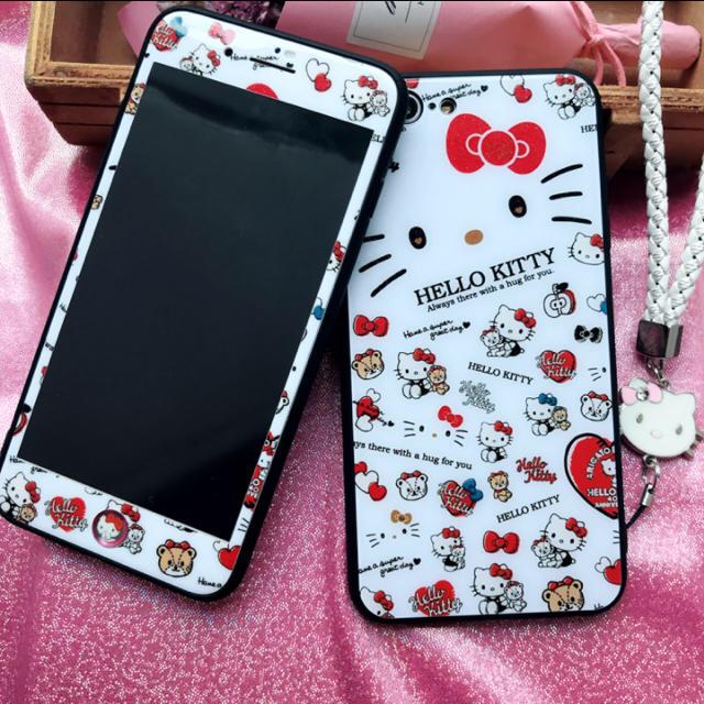 givenchy iphone7 ケース xperia - iPhoneケース ストラップ ガラスファイル ハローキティ  可愛い 超人気の通販 by プロフィールを読んで下さい|ラクマ