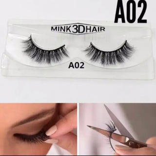 A02 送料無料 3D ミンク つけまつげ つけまつ毛 mink3dhair