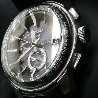 セイコー(SEIKO)の★美品★アストロンSBXA037 ドーム型ガラス 人気モデル ブラック×シルバー(腕時計(アナログ))