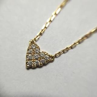 アーカー(AHKAH)のAHKAH K18 イエローゴールド ダイヤモンド ハートモチーフネックレス(ネックレス)
