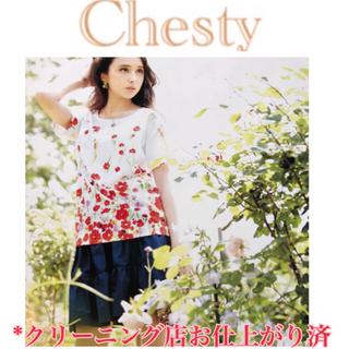 Chesty - 【試着のみ・幻の チェスティ】フラワー 花柄 トップス tocco トッコ