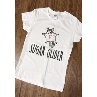 ジーユー(GU)の新品 フクロモモンガ Tシャツ ホワイト フクモモ モモンガ キッズ(Tシャツ(半袖/袖なし))