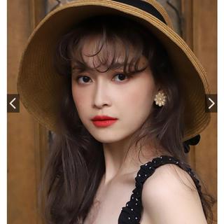 ワンアフターアナザーナイスクラップ(one after another NICE CLAUP)の女優帽 タグ付き(麦わら帽子/ストローハット)