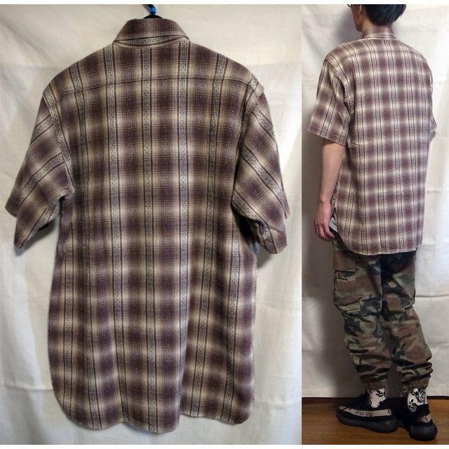 Sugar Cane(シュガーケーン)のSUGAR CANE シュガーケーン プルオーバー ジップアップ 半袖シャツ L メンズのトップス(シャツ)の商品写真