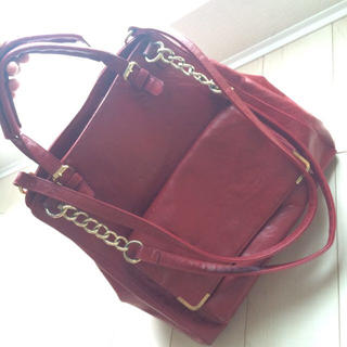 トップショップ(TOPSHOP)のTopshop bag RED(ハンドバッグ)