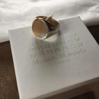 マルタンマルジェラ(Maison Martin Margiela)の値下18AW新品S マルジェラ ツートーン シグネット リング オーバル(リング(指輪))