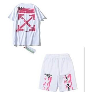 オフホワイト(OFF-WHITE)のOFFWHITE 上下セット Tシャツ(Tシャツ/カットソー(半袖/袖なし))