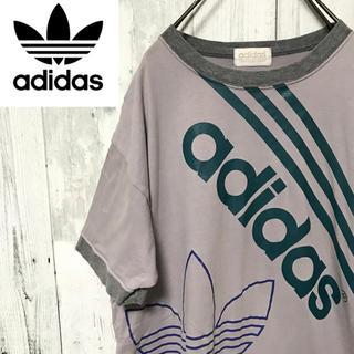 アディダス(adidas)の【激レア】アディダスオリジナルス☆デサント製 ビッグロゴTシャツ 80s 90s(Tシャツ/カットソー(半袖/袖なし))