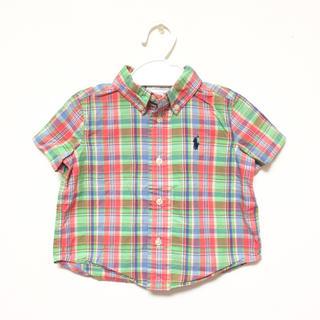 ラルフローレン(Ralph Lauren)の☆ ラルフローレン チェックシャツ 9M 70 80 半袖☆(シャツ/カットソー)